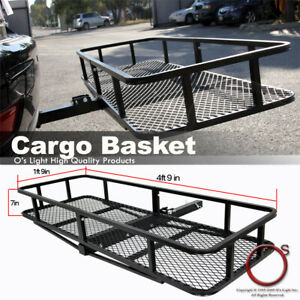 Universal Trailer Tow Hitch Rack Car Cargo Carrier Traveling Rear Folding Basket