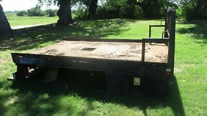 11 Flat Bed With Goose Neck Hook Up 11 Foot With Tool Boxes Headache Rack