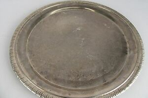 Vintage Silver Plated International Silver Co Round Serving Dish Charger 12