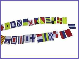 Marine Navy Signal Code Flag Set String Of 26 8 Ft Long Nautical Maritime Boat Y