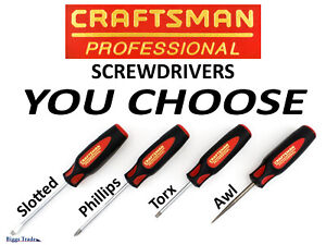 Craftsman usa Professional Screwdriver You Choose Slotted Phillips Torx Awl