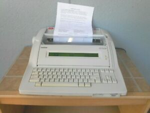 Brother Wp700d Electric Typewriter Word Processor Portable W Disk Drive Daisy