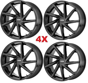 24 Gloss Black Wheels Rims 6x139 7 6x5 5 Km705