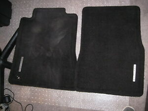 2005 2009 Mustang Oem Genuine Ford Charcoal Black 2pc Front Floor Mats W Emblem