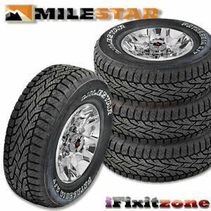 4 Milestar Patagonia A T 245 75r16 111t All Terrain Performance Tires New
