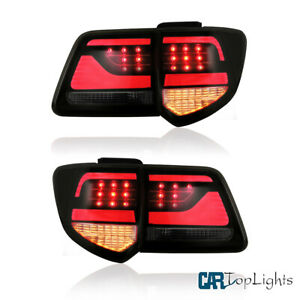 Full Led Smoked Tail Lights For Toyota Fortuner 2012 2015 Rear Lamps L R