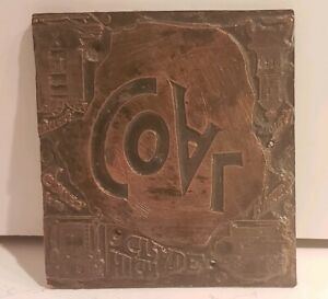 Vintage Letter Press Plate Printing Plate High Grade Coal Advertisement 2 X 2