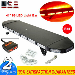 New 41 96 Led Tow Truck Top Roof Light Bar Double Side Response Strobe Us