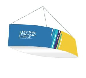 Football Hanging Ceiling Banner Sign 10 X 3 5 Trade Show Display Hanging Sign