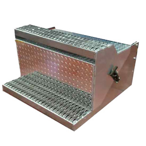 Diamond Plate Aluminum 31 Inch Battery Box New Style Step For All Peterbilt