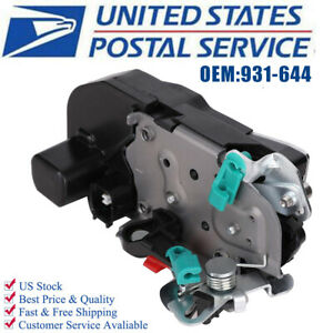 Rear Door Lock Actuator W Integrated Latch Assembly For Ram Pickup Truck Us