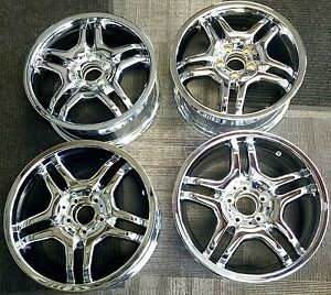 Amg Mercedes Clk Chrome Oem Alloy Wheels Rims 17x7 1 2 17x8 1 2 2008 2009