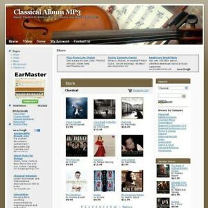 Classical Album Mp3 Store Online Business Website For Sale Make Money At Home