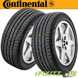 2 Continental Procontact 195 65r15 91h Tires