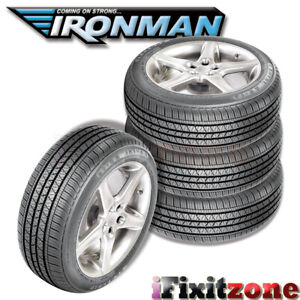 4 Ironman Rb 12 Nws 225 70r15 100s White Wall All Season High Performance Tires