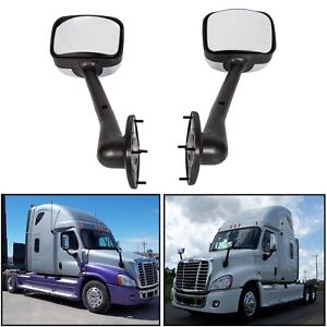 Lh Rh Side Hood Chrome Mirrors Manual Pair For Freightliner Cascadia 2008 2016