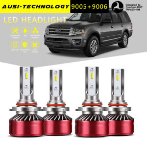 9005 9006 Led Headlight Bulb Fit Ford Expedition 2003 2006 Explorer 2002 2005