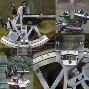 Sextant Vintage Marine Working Navy Sextant Nautical Solid Brass Ship Instrument