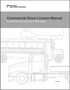 Commercial Driver's License Manual CDL Training New Jersey Guide CDL $7.01