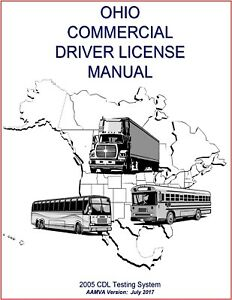 Ohio CDL Study Guide Commercial Driver's License Training Manual CDL $7.01