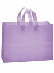 Plastic Shopping Bags Purple Lavender Frosted 16 X 6 X 12 Frosty 100 Merchandise