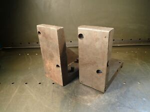 2 Piece Set Of 8 X 8 X 3 3 4 Mill Milling Set up Fixture Right Angle Plate
