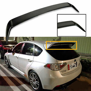 For Subaru Wrx Sti 2008 2014 Add On Rear Roof Wing Spoiler Extension