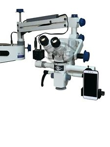 Tiltable Head Portable Dental Operating Microscope 5 Step Magnification 110 240v