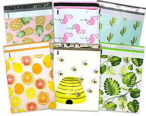 10x13 Poly Mailers Cactus pineapple bees bananna Leaves pink Flamingo citrus Bag