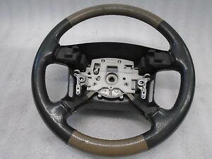 Vi61175 99 01 Land Rover Discovery Beige Dark Gray Steering Wheel Assembly Oem