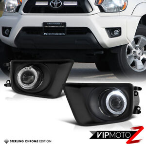 For 12 15 Toyota Tacoma X Runner Pre Runner Halo Projector Foglights Lamp Bezel