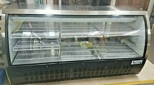Refrigerated Deli Case Commercial Avantco 82 Black Curved Glass Mod Dlc82 hc b