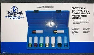 Cornwell Cbs 9twnpsr 9pc 6pt 1 2 Thin Wall Wheel Protector Socket Set
