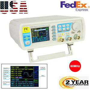 Fy6800 60mhz Dds Dual channel Signal Generator Source Frequency Meter Counter Us