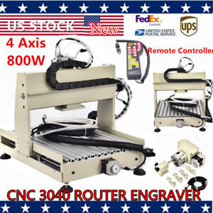 4axis 800w 3040 Cnc Vfd Router Engraver Engraving Machine Wood Carving handwheel