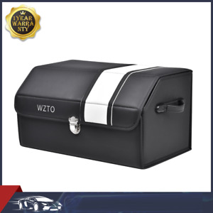 Black Car Trunk Organizer Storage Box Bag Crate Interior Travel Accessories