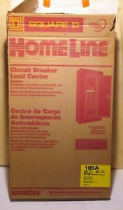 Homeline Square D 100a 20 Space 20 Circuit Breaker Panel