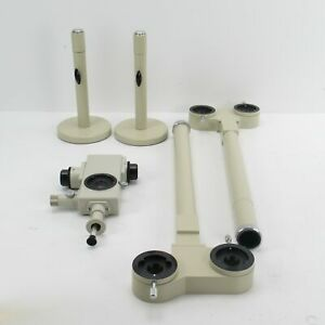Nikon 4 port Microscope Teaching discussion Attachment For Labophot optiphot