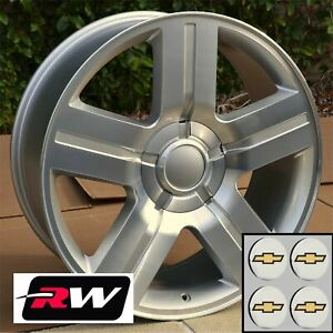 22 X9 Inch Chevy Tahoe Texas Edition Oem Specs Wheels Machined Silver Rims