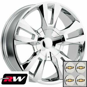 24 Inch 24 X10 Chevy Tahoe Oem Specs Wheels Chrome Rst Edition Rims
