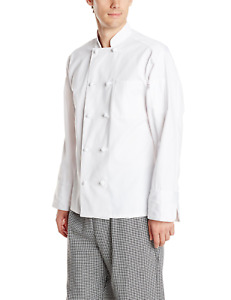Uncommon Threads Unisex Classic Knot Button Chef Coat White Small