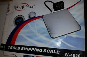 Weighmax 150 Lb Digital Shipping Postal Scale W A c Adapter