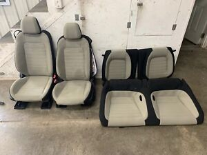 2015 2017 Ford Mustang Gt Cream Cloth Front Rear Seats Power Oem