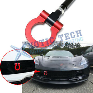 For Chevy Corvette Z06 Zr1 Z51 2014 2019 Track Racing Cnc Aluminum Tow Hook Red