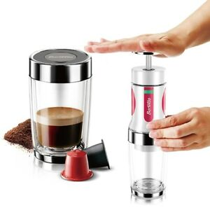High Quality Portable Hand Press Stainless Steel Filter Espresso Maker Free Ship
