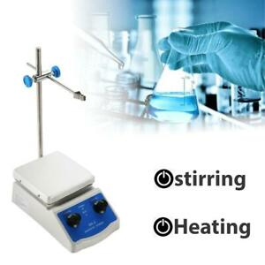 Magnetic Stirrer Hot Plate Dual Controls Lab Mixer Laboratory With Heating Plate