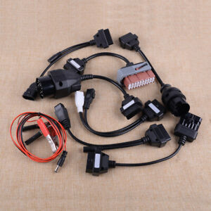 8xcar Diagnostic Scanner Tool Cables Connectors Fit For Car Autocom Cdp Psa Benz