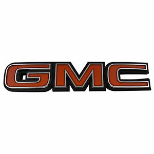 Trim Parts 1981 87 Gmc Truck And Jimmy Tailgate Trim Panel Emblem 9873