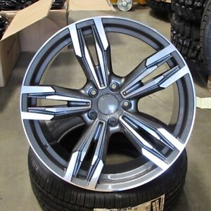 18 Gunmetal Machined Wheels 433 Style Fits Bmw 1 2 3 4 And 5 Series