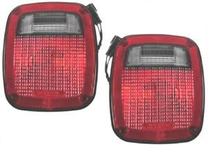 For 98 06 Jeep Wrangler Yj Tj Lj Left Right Taillight Taillamp Light Pair L r